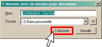 confirmation abo RSS marque-page dynamique